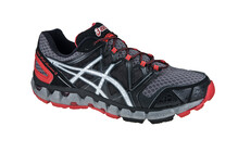 Asics Men's Gel Fujisensor 2 GTX titanium/silver/fire red